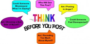 Think before posting online