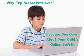 Monitor child's computer PC activity with ScreenRetriever