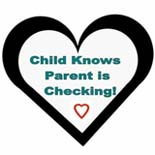 child knows parent is checking