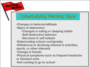 Warning signs of cyberbullying