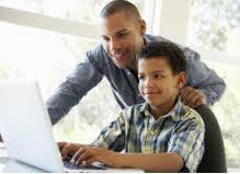 parent checking child's computer activity 2