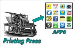 printing press to apps, how the world has changed!