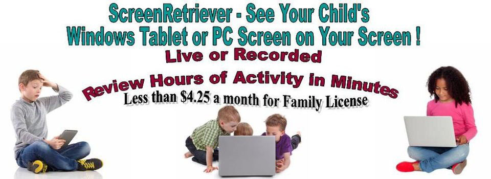 ScreenRetriever Monitor Childs PC for online safety
